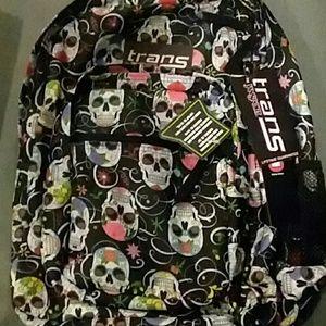 NWT Jansport Sugar skulls backpack